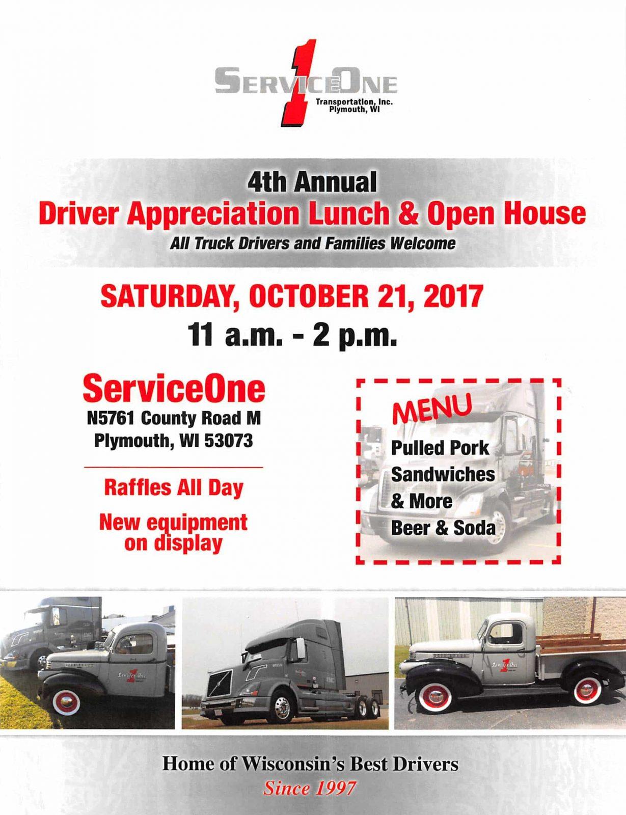 Service One Transportation 4th Annual Driver Appreciation