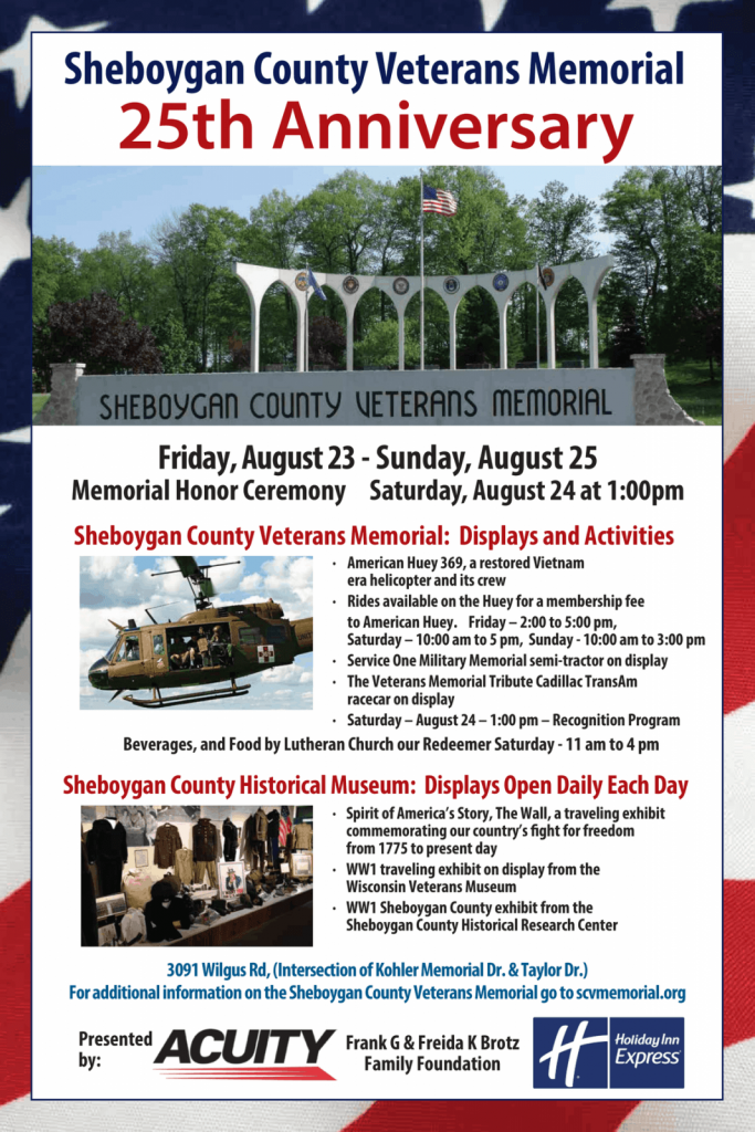 Sheboygan County Veterans Memorial 25th Anniversary